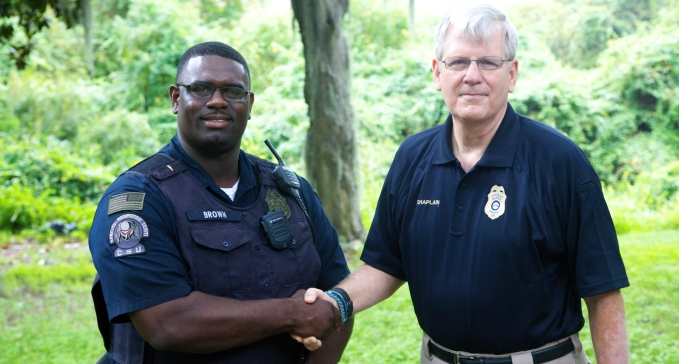 Chaplain Charles Connects with Law Enforcement
